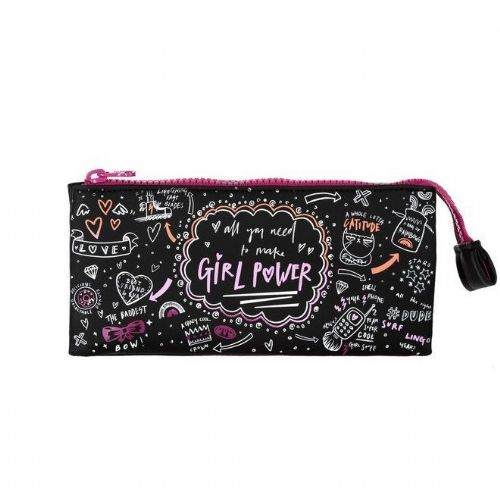 ANIMAL GIRLS PENCIL CASE.NEW GRAD 3 POCKET BLACK PINK SCHOOL STATIONERY 8W 3 2